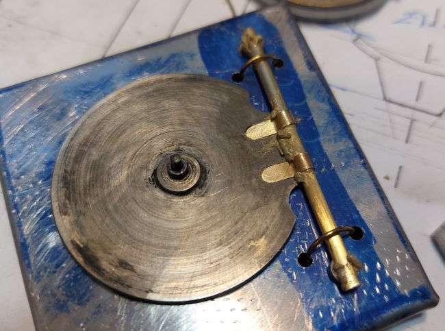 door hinge on stainless steel jig
