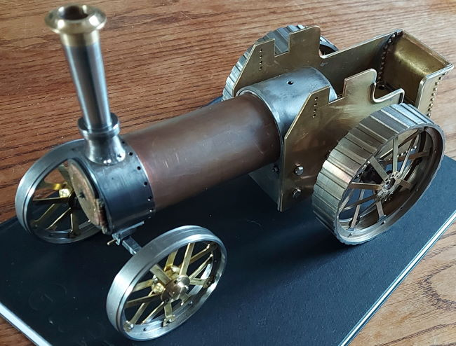 Burrell traction engine 1/20th scale on 4 wheels
