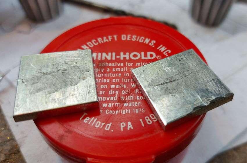 applying mini-hold to aluminium spacers