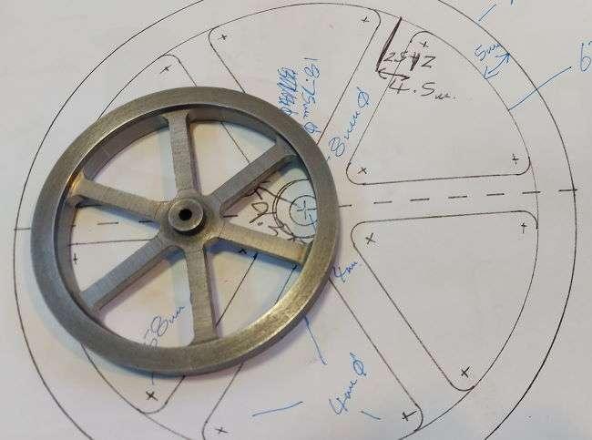 flywheel versus plan drawing