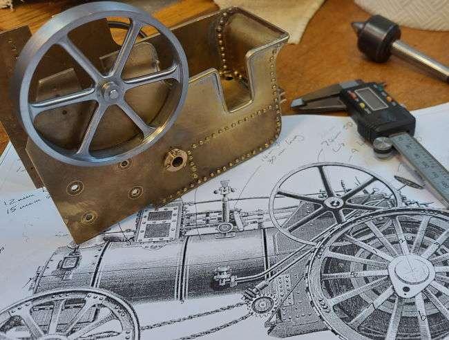 Burrell flywheel and tender