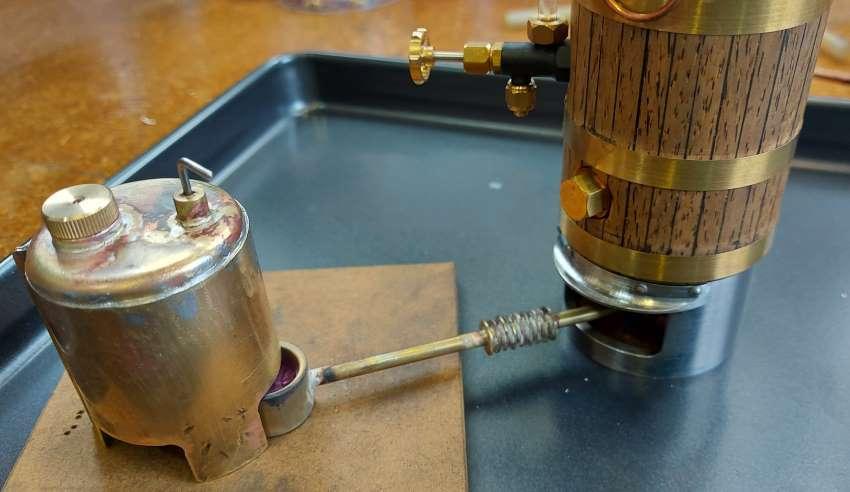 vertical boiler and spirit burner
