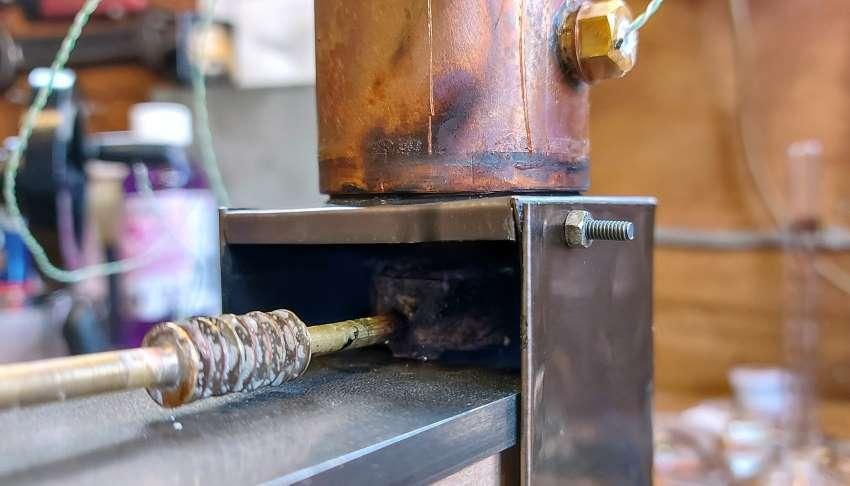 minimum burner to boiler distance
