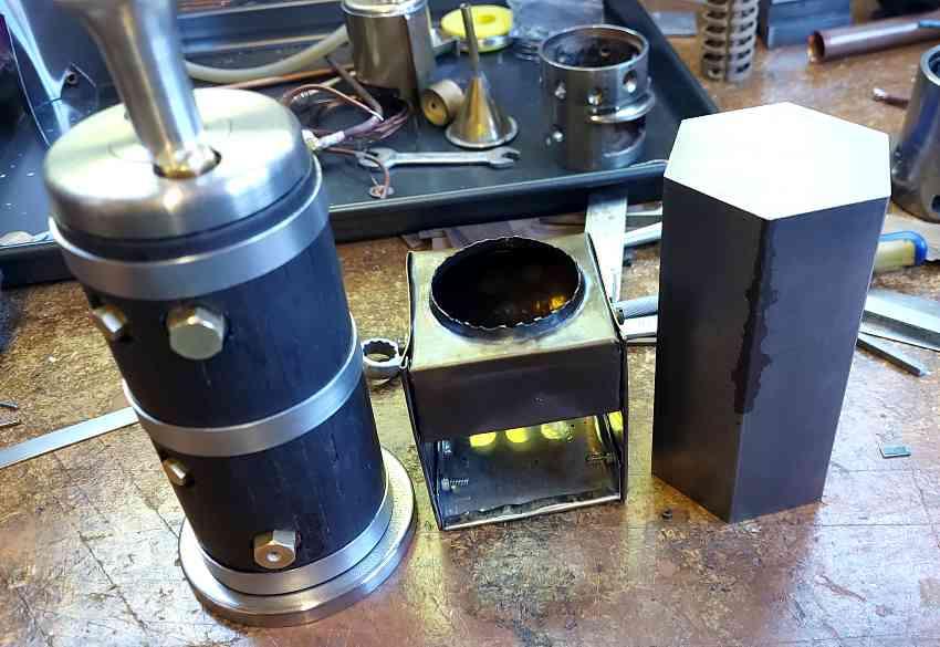 final firebox design for the small vertical boiler