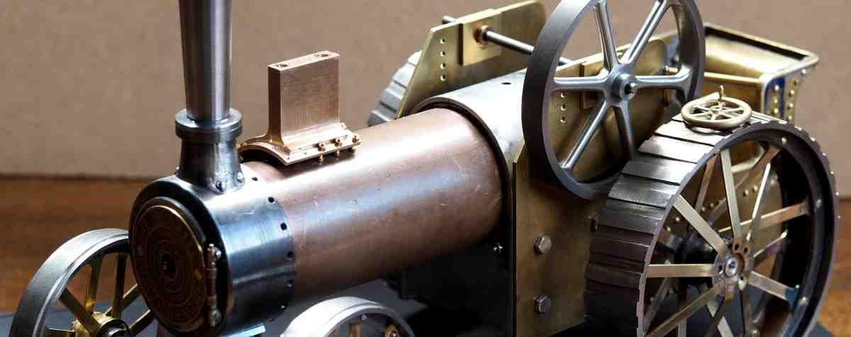 miniature Burrell traction engine