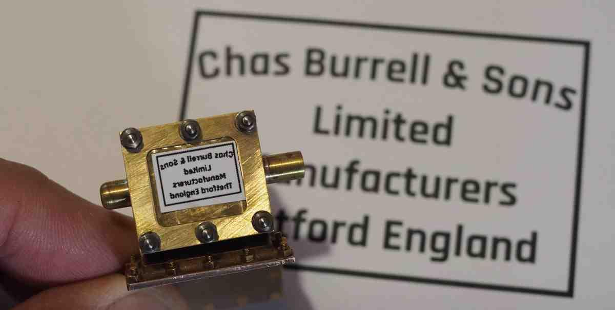 Burrell valve chest plaque