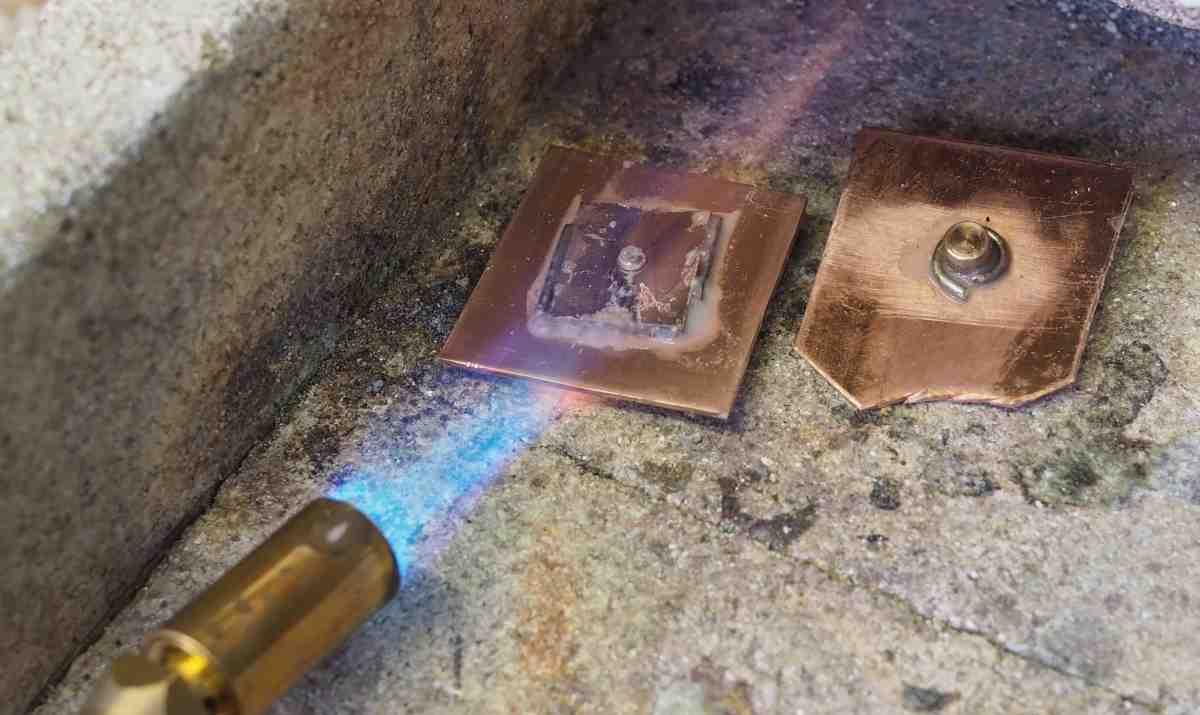 silver solder test open flame heat